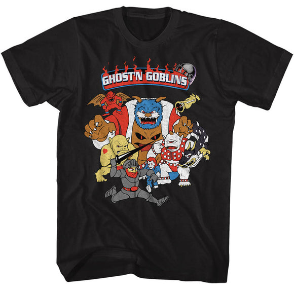 Ghosts 'n Goblins T-Shirt Group Black Tee
