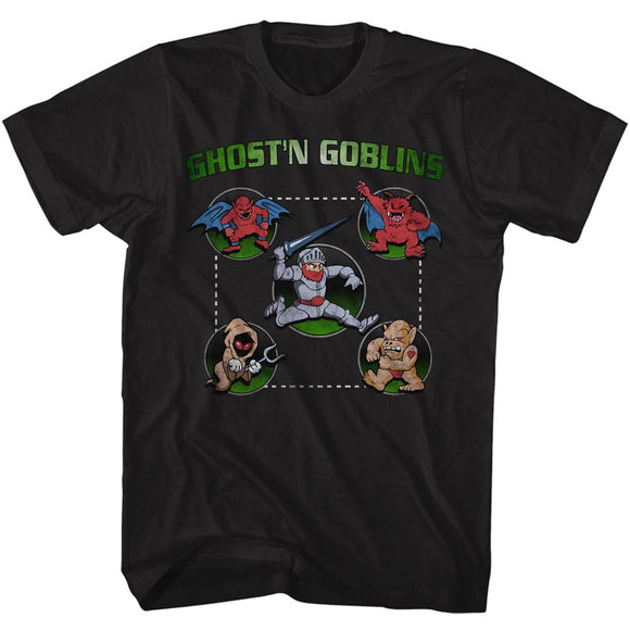 Ghosts 'n Goblins T-Shirt Full Circle Black Tee