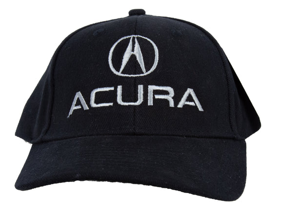 Acura Hat Embroidered Adjustable Cap, Black