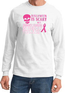 Breast Cancer T-shirt Halloween Scary Long Sleeve