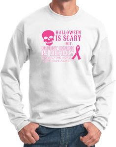 Breast Cancer Sweatshirt Halloween Scary