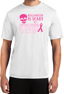 Breast Cancer T-shirt Halloween Scary Moisture Wicking Tee