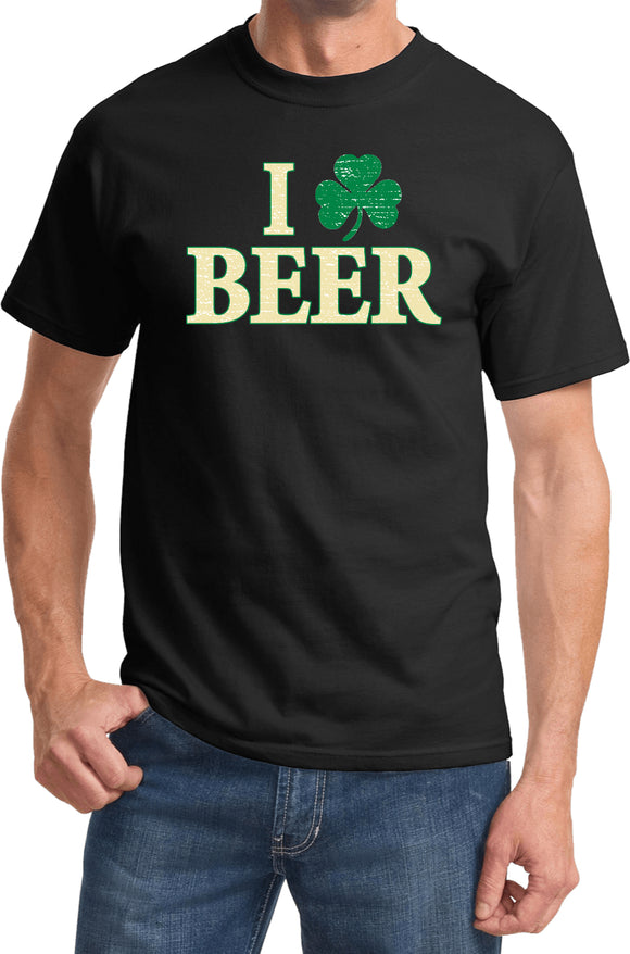 St Patricks Day T-shirt I Love Beer