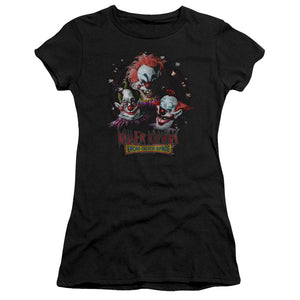 Killer Klowns From Outer Space Juniors T-Shirt Popcorn Black Tee