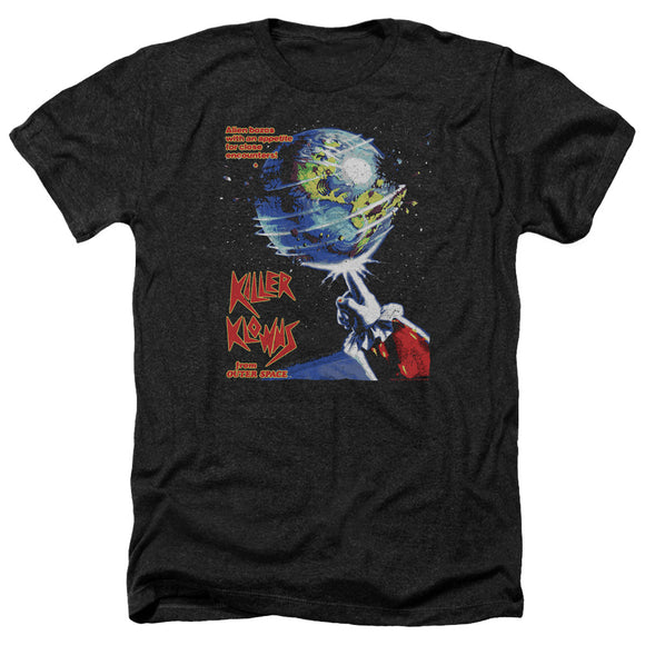 Killer Klowns From Outer Space Heather T-Shirt Movie Poster Black Tee