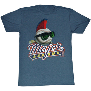 Major League II T-Shirt Mohawk Logo Navy Heather Tee