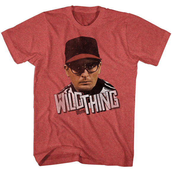 Major League T-Shirt Wild Thing Red Heather Tee