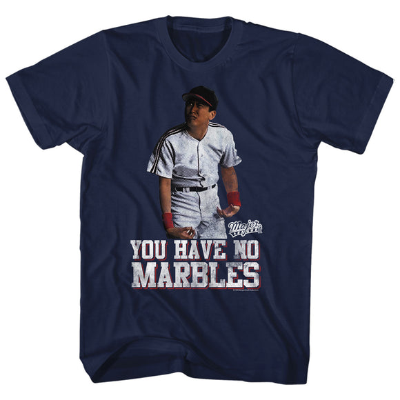 Major League Tall T-Shirt You Have No Marbles Navy Tee