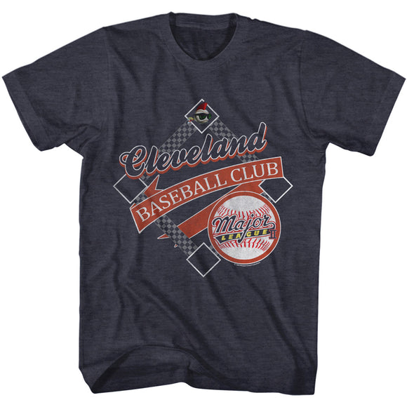 Major League T-Shirt Cleveland Baseball Club Navy Heather Tee