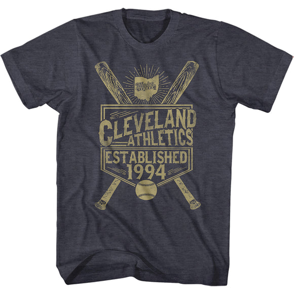 Major League T-Shirt Cleveland Athletics Established 1994 Navy Heather Tee