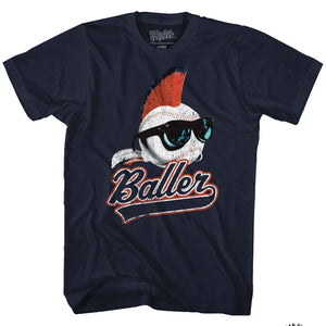 Major League Tall T-Shirt Baller Navy Tee
