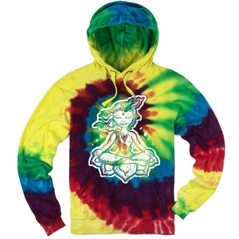 Yoga Clothing for You Mens Tie Dye Krishna Yoga Hoodie - Michaelangelo - Yoga Clothing for You