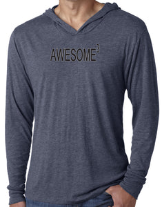 Mens Awesome Cubed Lightweight Hoodie Tee Shirt