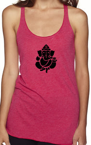 Womens Shadow Ganesha Racerback Tank Top