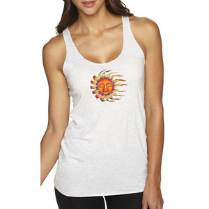 Ladies Yoga Sleeping Sun Racerback Vintage Tank Top - Yoga Clothing for You - 7