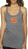 Ladies Yoga Sleeping Sun Racerback Vintage Tank Top