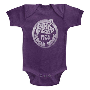 Pink Floyd Infant Bodysuit 1968 World Tour Vintage Purple Romper
