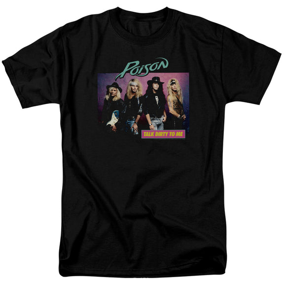 Poison T-Shirt Talk Dirty To Me Black Tee