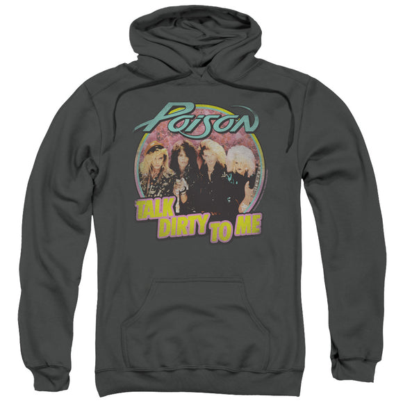 Poison Hoodie Talk Dirty Charcoal Hoody