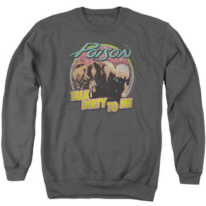 Poison Sweatshirt Talk Dirty Charcoal Pullover