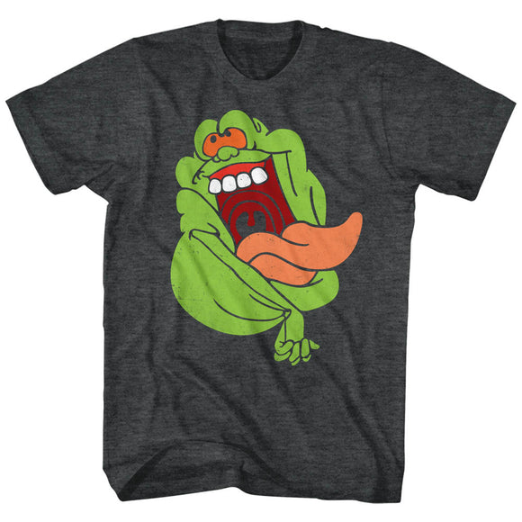 The Real Ghostbusters T-Shirt Slimer Black Heather Tee