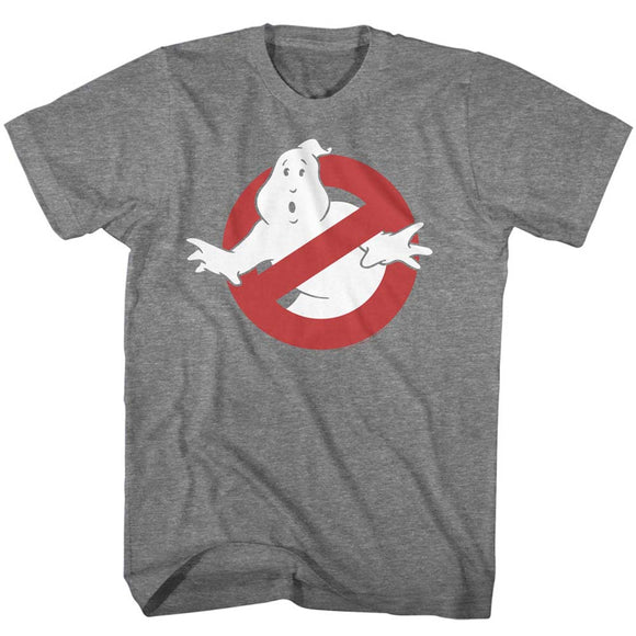 The Real Ghostbusters T-Shirt No Ghost Sign Graphite Heather Tee