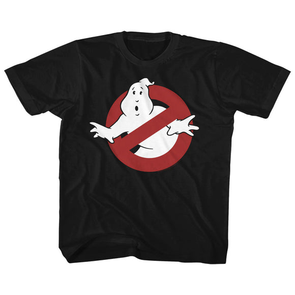 The Real Ghostbusters Toddler T-Shirt No Ghost Sign Black Tee