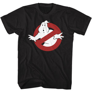 The Real Ghostbusters Tall T-Shirt No Ghost Sign Black Tee
