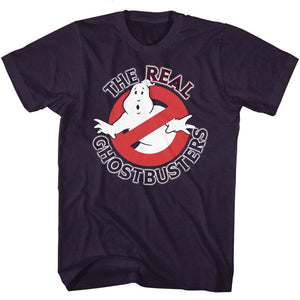 The Real Ghostbusters T-Shirt No Ghost Logo Blackberry Heather Tee