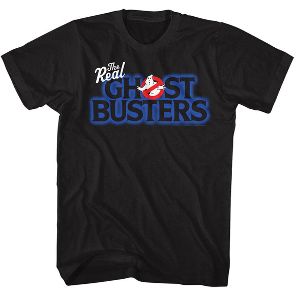 The Real Ghostbusters Tall T-Shirt Logo Black Tee