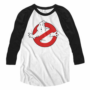 The Real Ghostbusters Raglan Shirt No Ghost Logo White/Black Tee