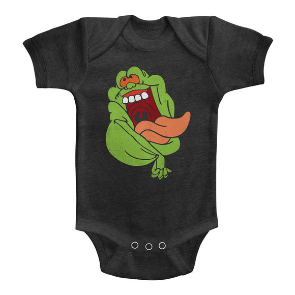 The Real Ghostbusters Infant Bodysuit Slimer Vintage Smoke Romper