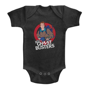 The Real Ghostbusters Infant Bodysuit Peter Venkman Vintage Smoke Romper