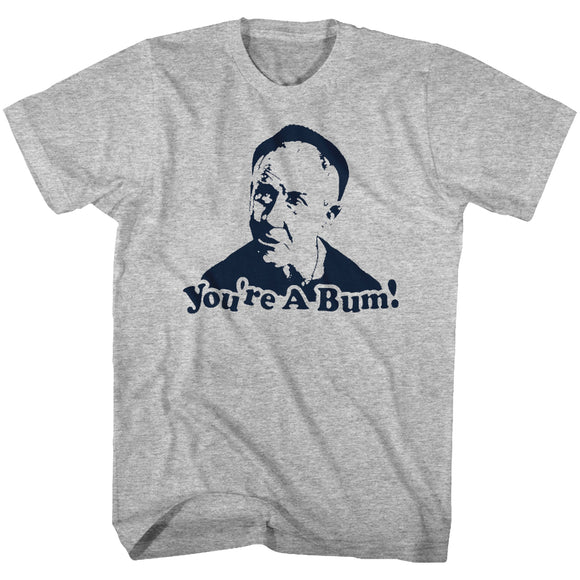 Rocky T-Shirt You're A Bum Coach Mickey Gray Heather Tee