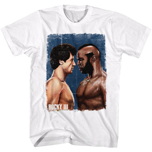 Rocky Tall T-Shirt VS Clubber Lang Painting White Tee