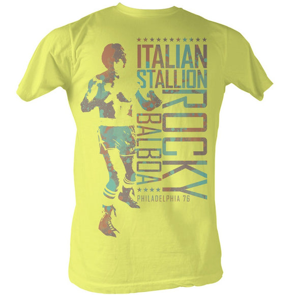 Rocky T-Shirt Balboa Philadelphia 76 Yellow Heather Tee