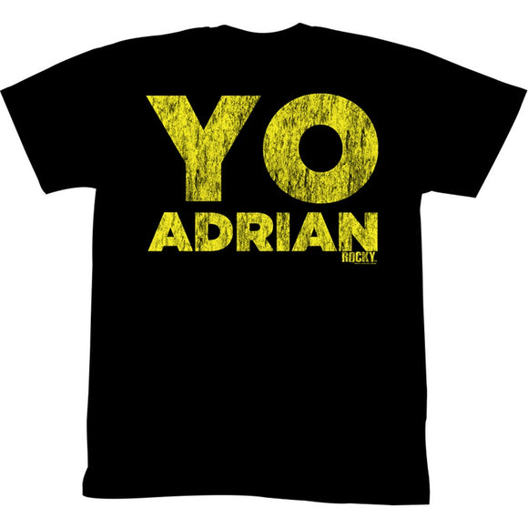 Rocky Tall T-Shirt Distressed Yellow YO ADRIAN Black Tee