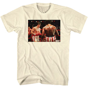 Rocky T-Shirt VS Apollo Creed In Ring Portrait Natural Tee