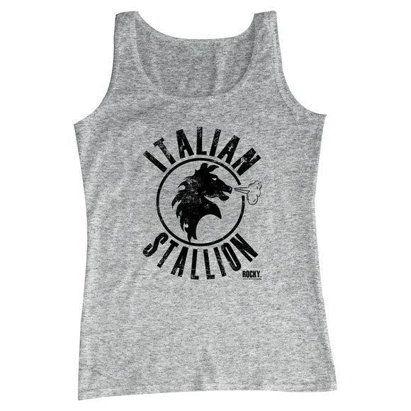 Rocky Mens Tanktop Distressed Italian Stallion Gray Heather Tank