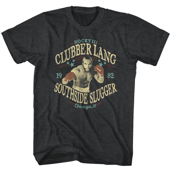 Rocky T-Shirt Clubber Lang Southside Slugger Black Heather Tee