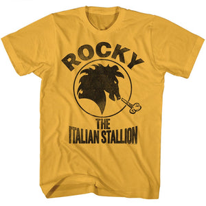 Rocky T-Shirt Distressed Black Italian Stallion Ginger Tee