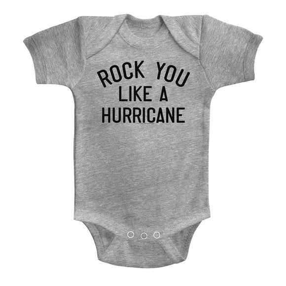 Scorpions Infant Bodysuit Rock You Like a Hurricane Grey Romper