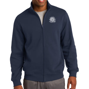 Mens Lotus Flower No-Hood Zip Sweatshirt - Pocket Print