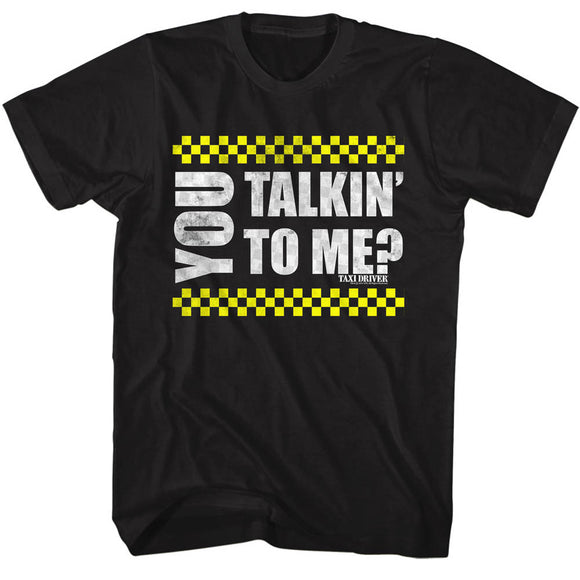 Taxi Driver Tall T-Shirt You Talking To Me Black Tee