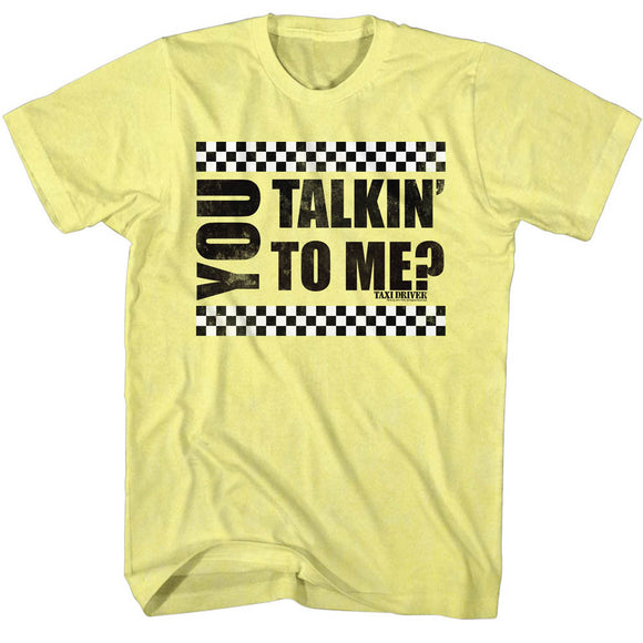 Taxi Driver T-Shirt You Talking To Me Yellow Heather Tee