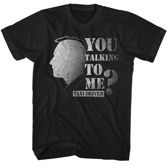 Taxi Driver Tall T-Shirt You Talking To Me Worn Out Black Tee