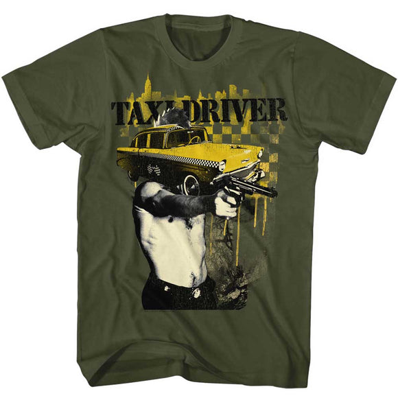 Taxi Driver T-Shirt Cab Face Military Tee