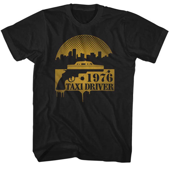1976 Taxi Driver Tall T-Shirt Black Tee