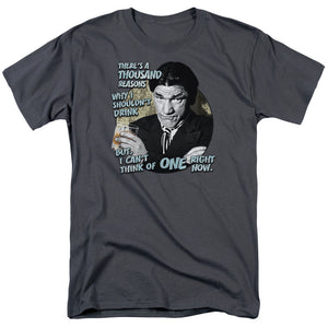 Three Stooges T-Shirt Shemp Reasons to Drink Charcoal Tee