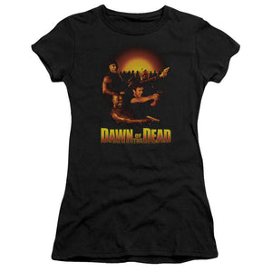 Dawn of the Dead Juniors T-Shirt Main Characters Black Premium Tee